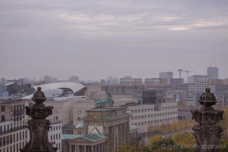 Skyline view of Berlin on top of Reichstag Building - Brandenburg Gate