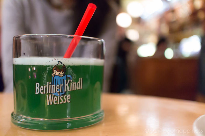 Berliner Kindle Weisse - Woodruff syrup