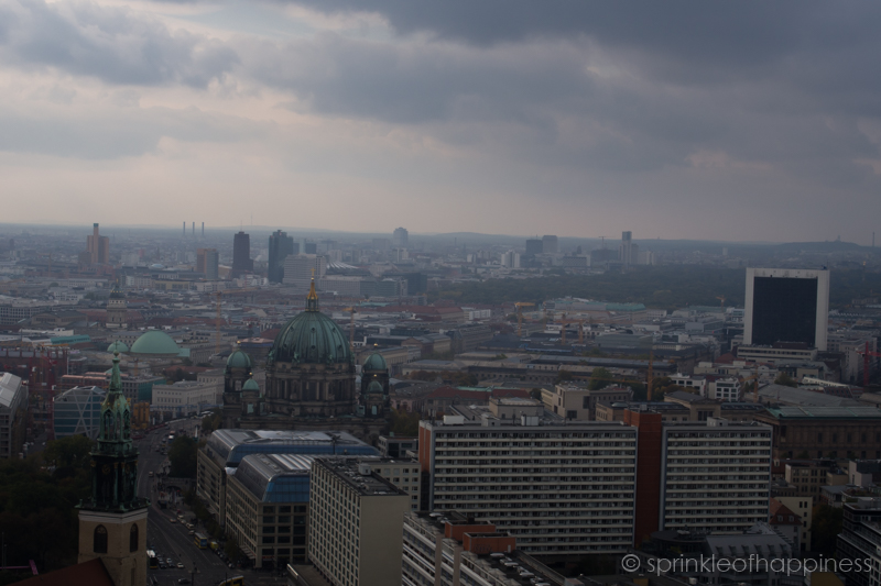 Berlin Skyline with cathedral (dom) in sight