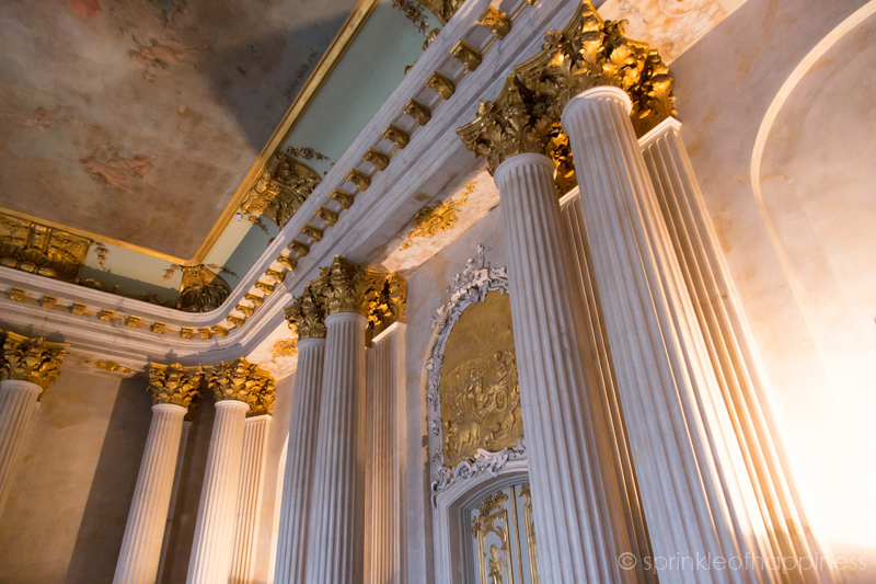 Inside Sanssouci Palace - Rococo styled art