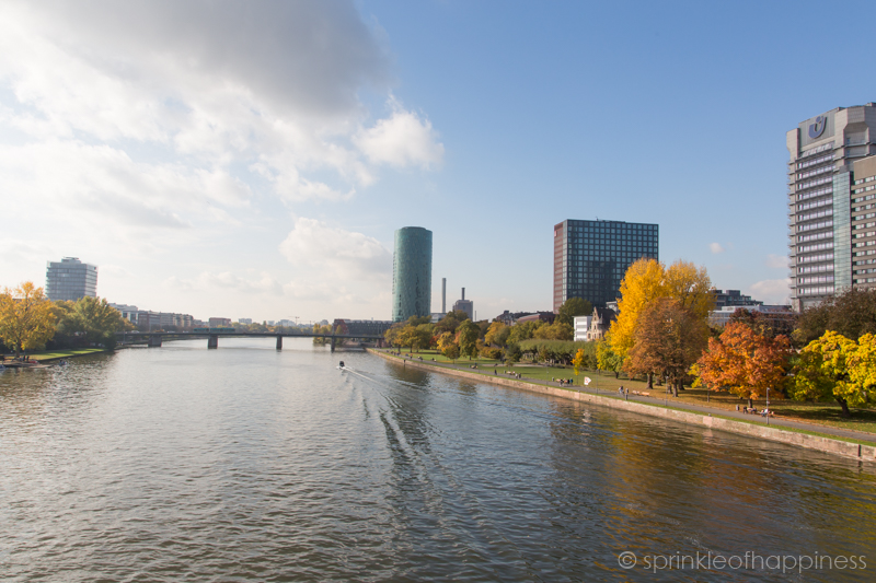 Frankfurt along the river