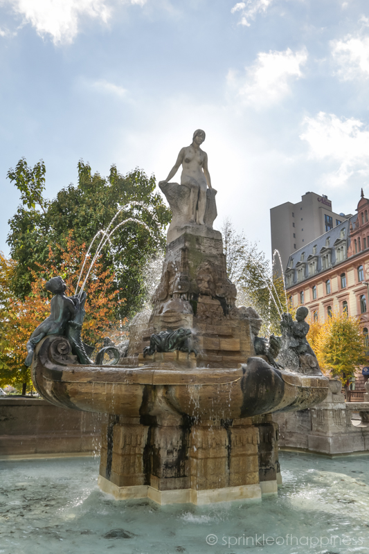 Märchenbrunnen - Fairy Tale Fountain near the Frankfurt Opera House