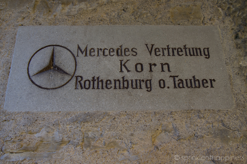Mercedes donated to Rothenburg for the reconstruction of the town after the bombing in WWII.