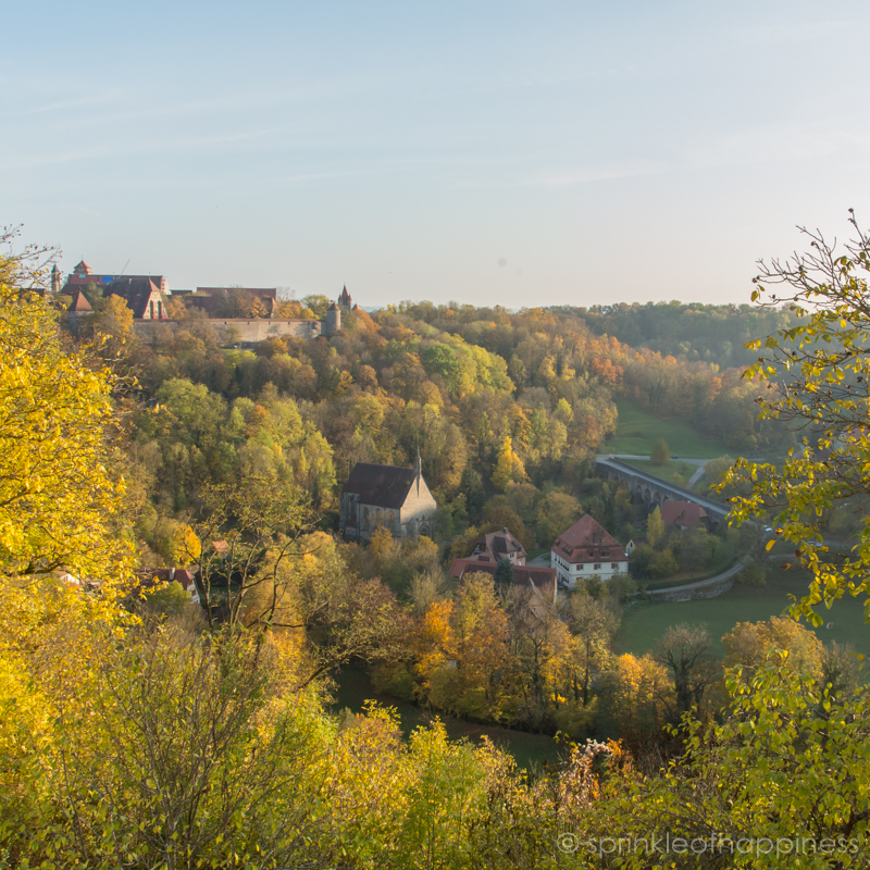 Rothenburg town wall view