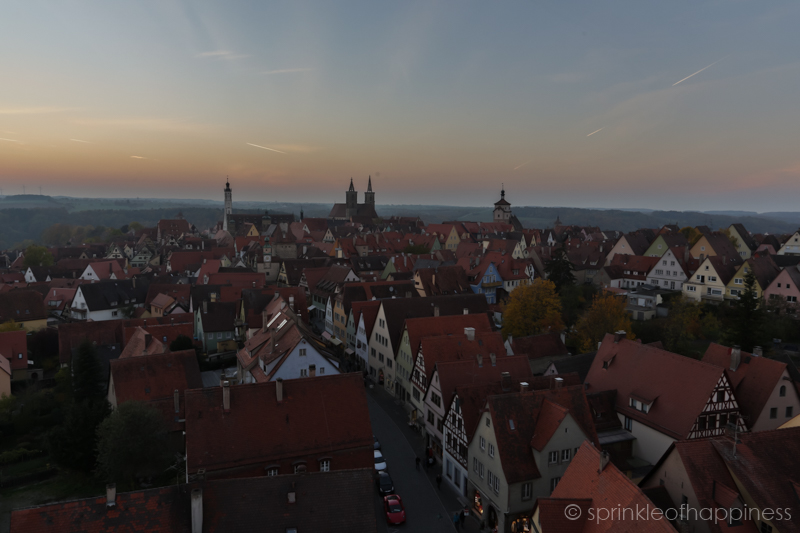 Sunset view of the Old Town Hall and St. Jakob`s Church