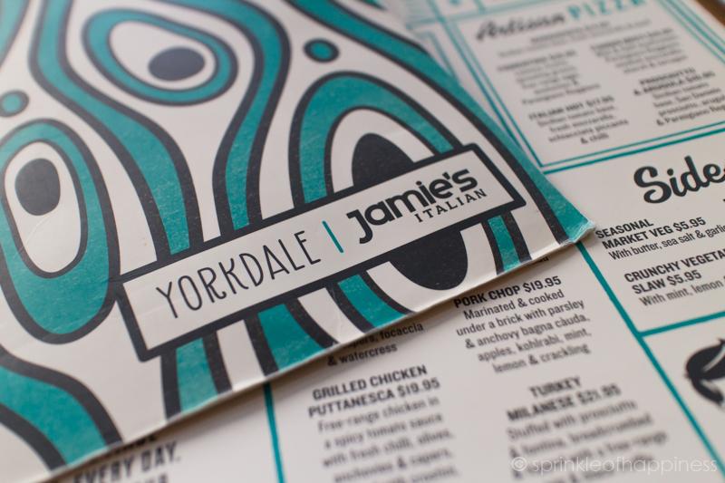 Jamie's Italian Yorkdale Menu