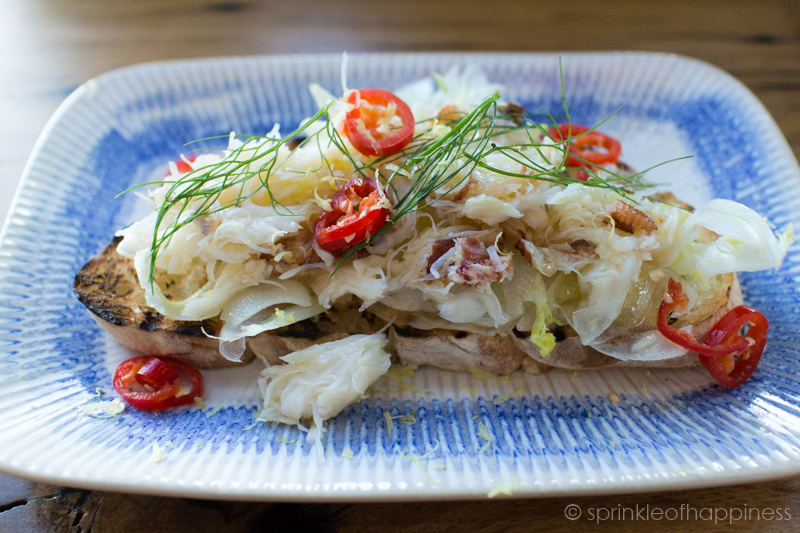 Jamie's Italian FRESH CRAB BRUSCHETTA - Fresh white & brown crab, crunchy fennel, lemon & chilli