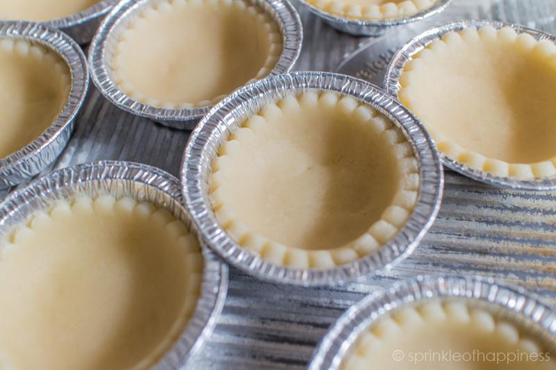 Egg Tart Shells Prior to Baking