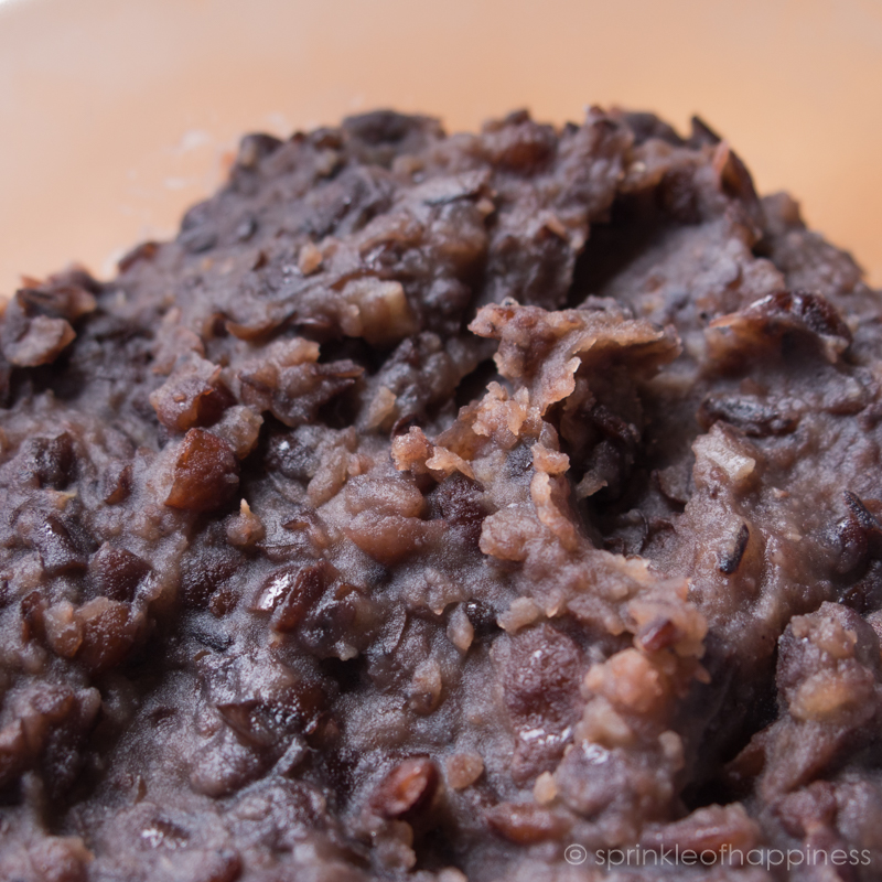 Close up of azuki bean paste