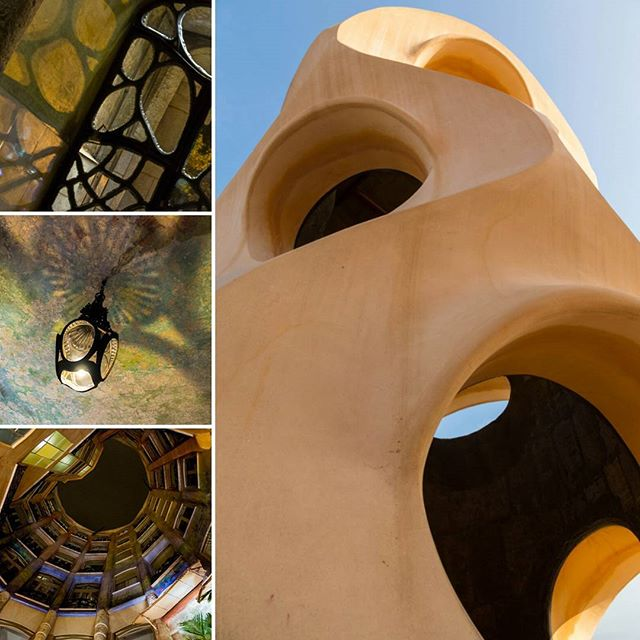 Casa Milà La Pedrera, a living, beating and breathing building by Antoni Gaudi, a modernist architect - Inspired by his love of nature. Design and function down to the details.  #gaudi #design #concept #architecture #casamila #lapedrera #Barcelona #catalunya  #catalunyaexperience  #arkitecture_details #fineart_architecture #structures_greatshots #skyscraping_architecture #pedreratheorigins #photooftheday #picoftheday #inspiration #nature #light