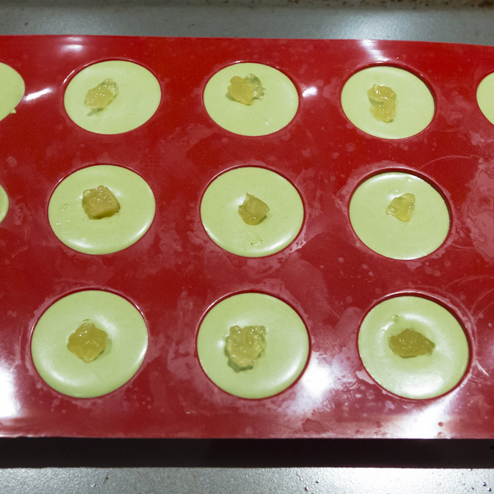 Ginger Marmalade Surprise in Matcha Mousse Bombs