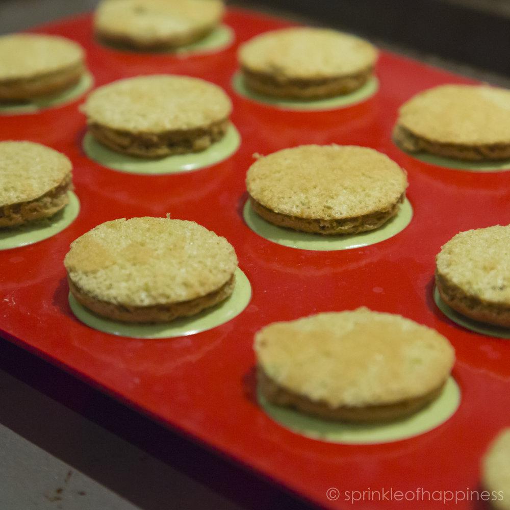 Matcha Mousse Bombs with Sponge Cake