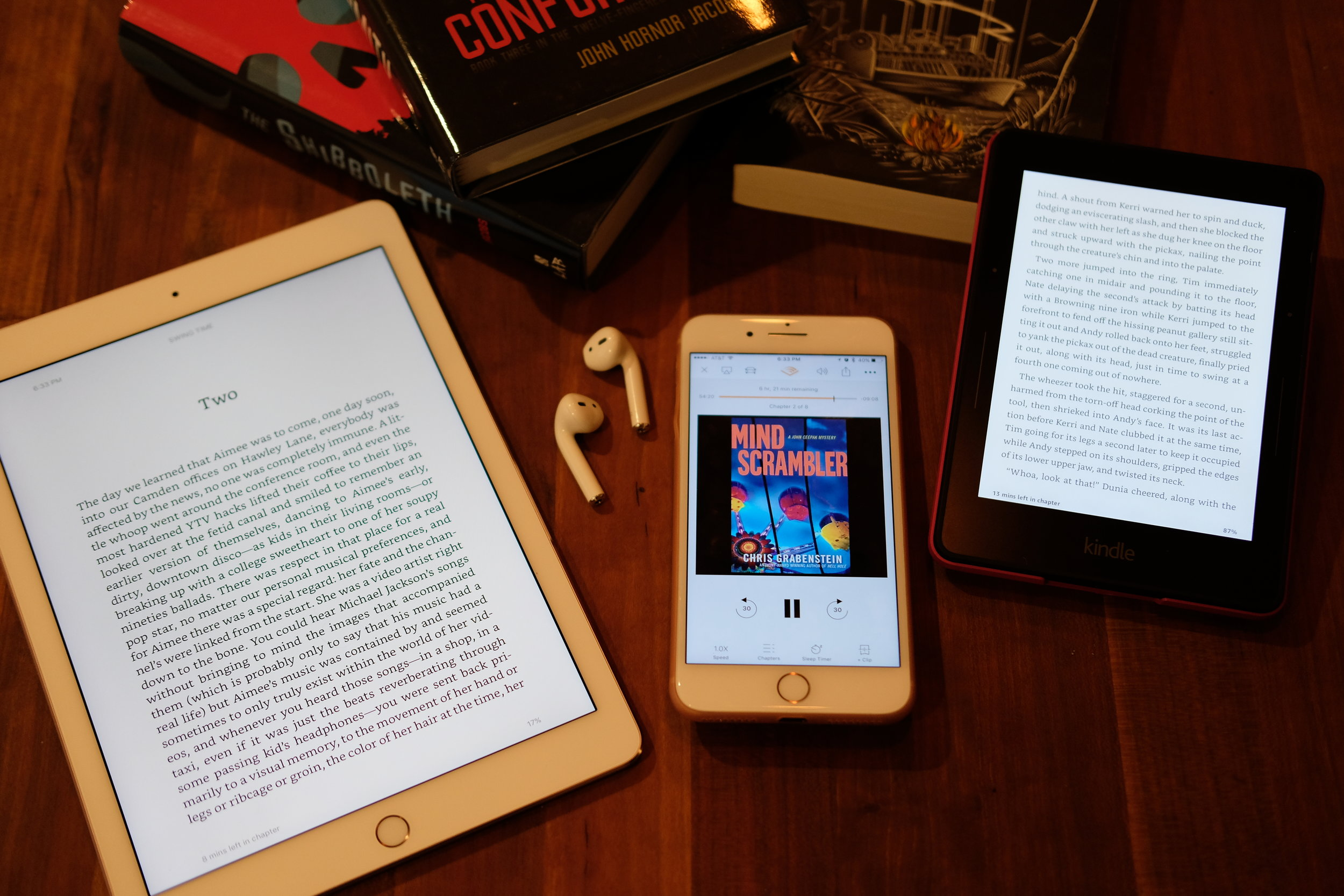 ways to read ipad iphone audio book physical book