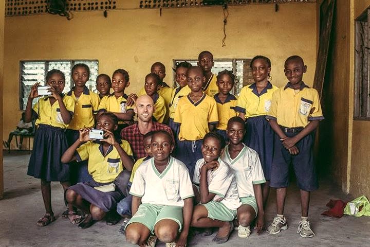 A few of the photography students at Les Maisons des Jeunes in Douala, Cameroon 2014.