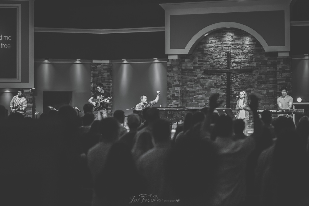 Leading worship at Declaration Church in College Station, TX