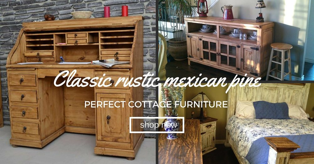 rustic mexican pine antiqued bedroom
