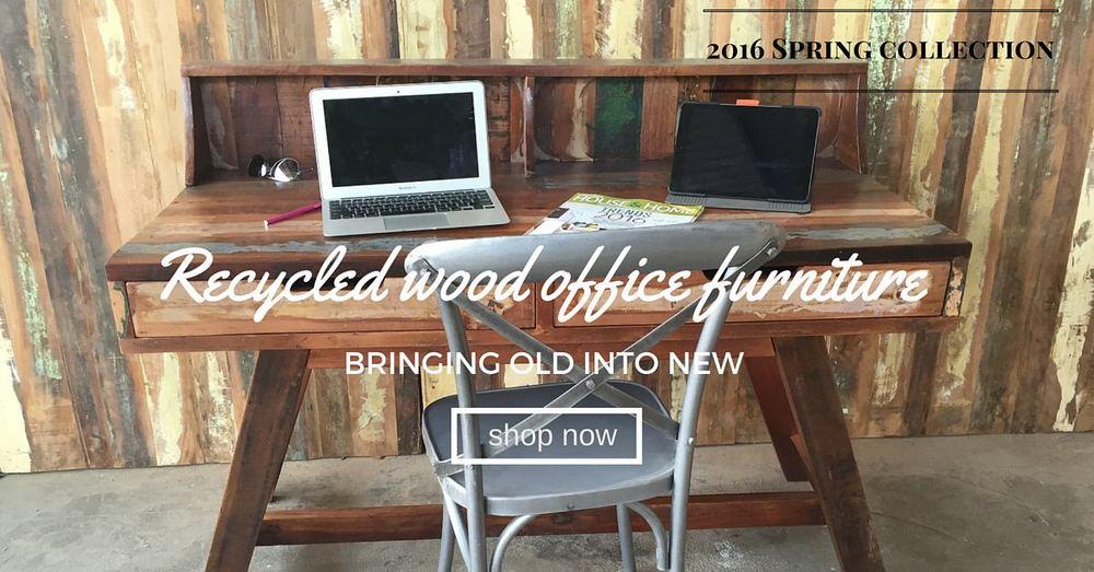 reclaimed wood rustic computer desk