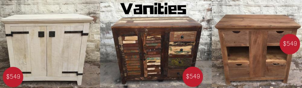 Solid wood Rustic vanities