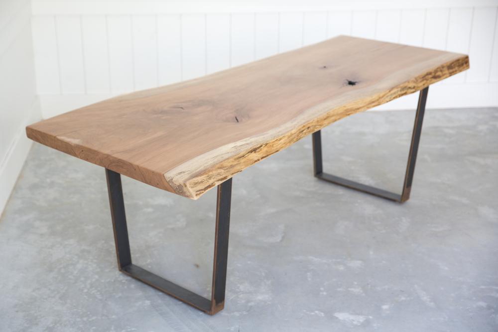 pecan slab dining table woodkith rh woodkith com slab dining table live edge slab dining table plans