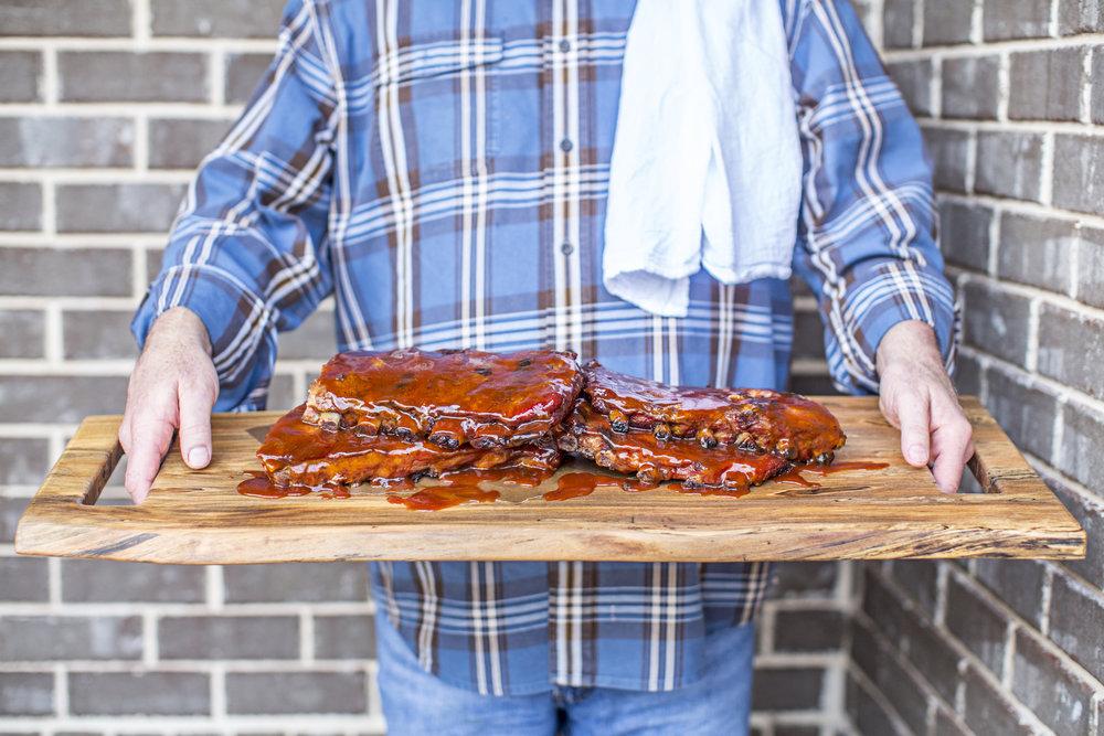 Wooden Feast Board / Ribs Platter / WoodKith