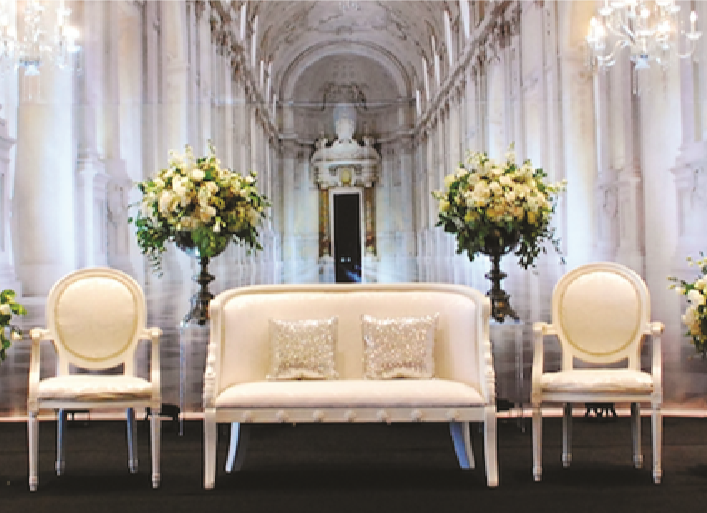 ST-2: White Swan Couch Set