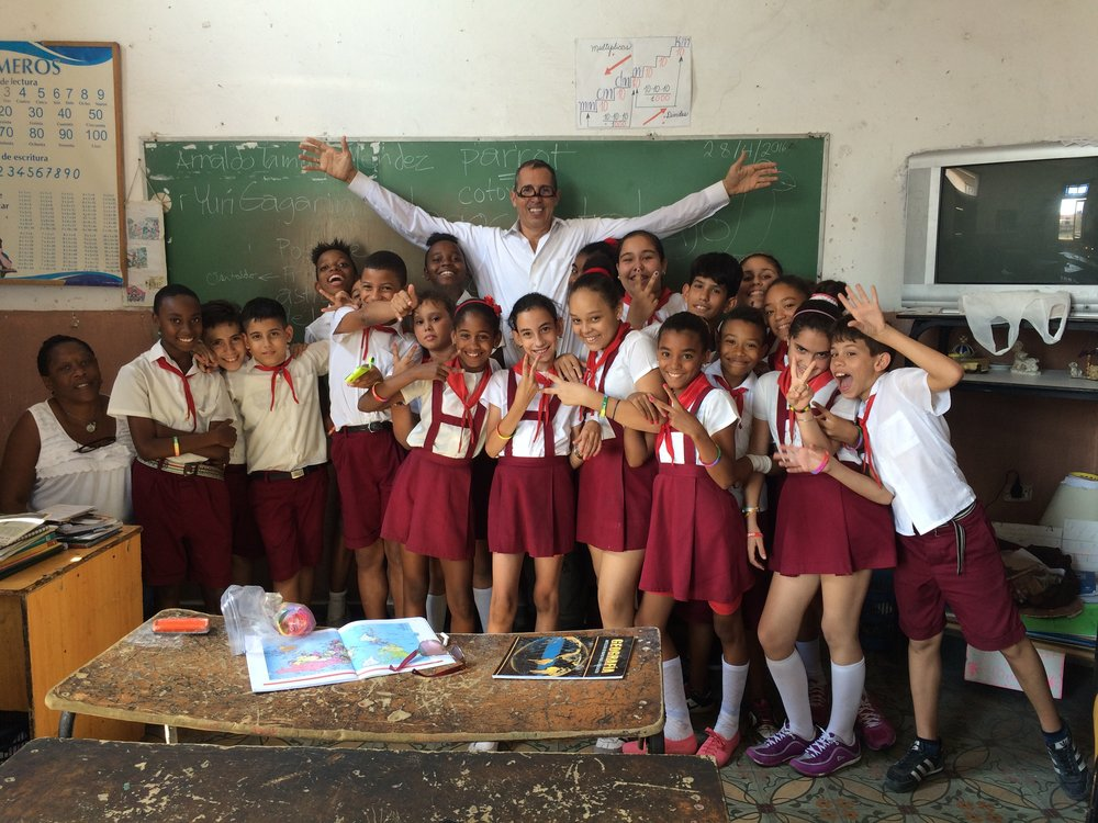 Students of 1st class I taught in Cuba