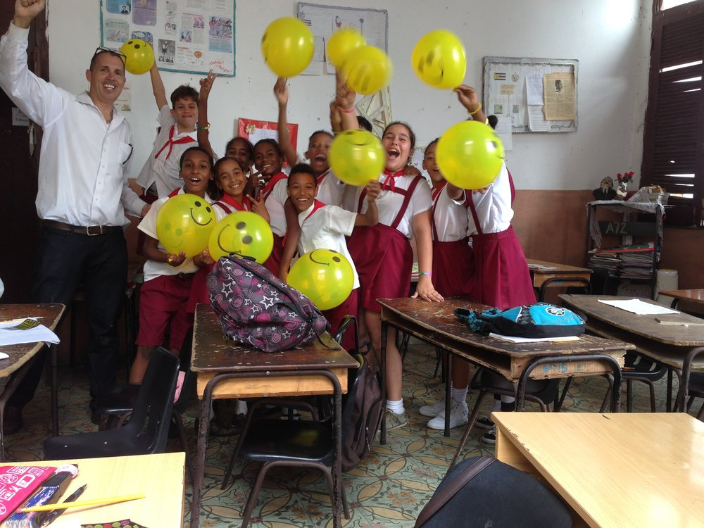 Me & students in Havana, Cuba classroom