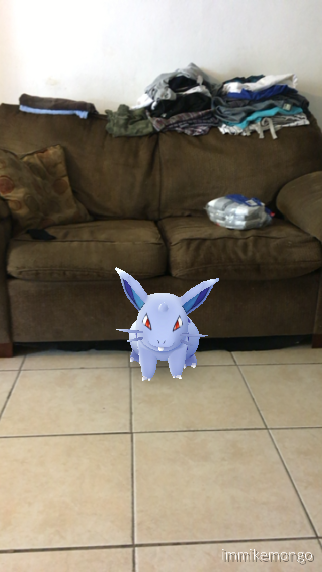 Nidoran (female) at friend's house