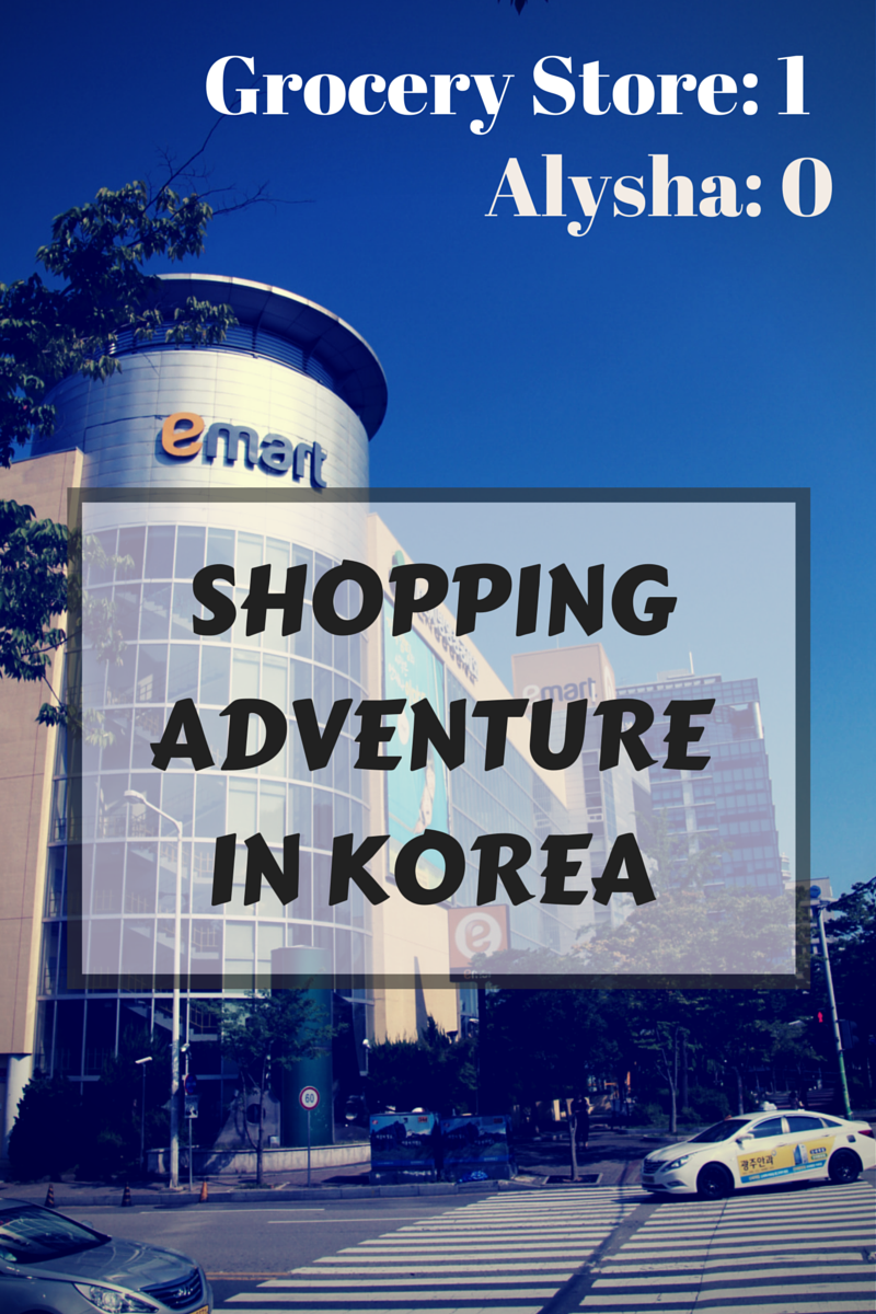 Shopping adventure in korea