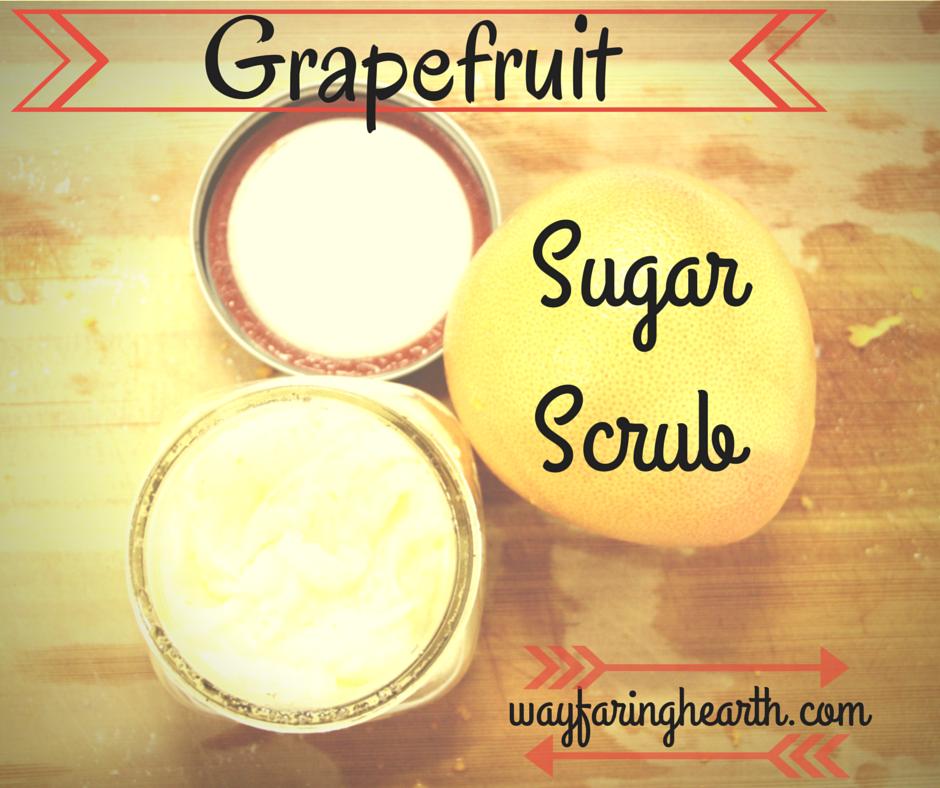 grapefruit sugar scrub