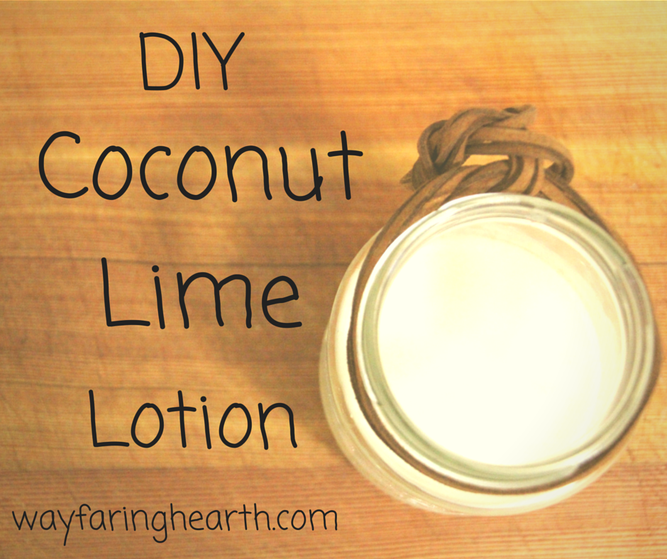 DIY coconut lime lotion