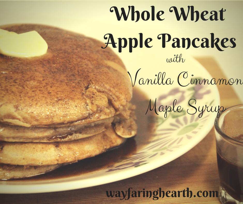 Whole Wheat Cinnamon Apple Pancakes-1