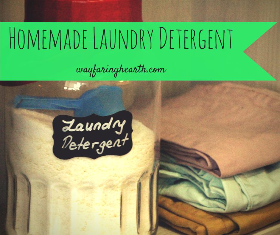 Homemade Laundry Detergent wayfaringhearth.com