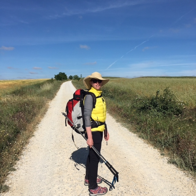 Halfway to Santiago de Compostela via the Camino Frances in Spain.