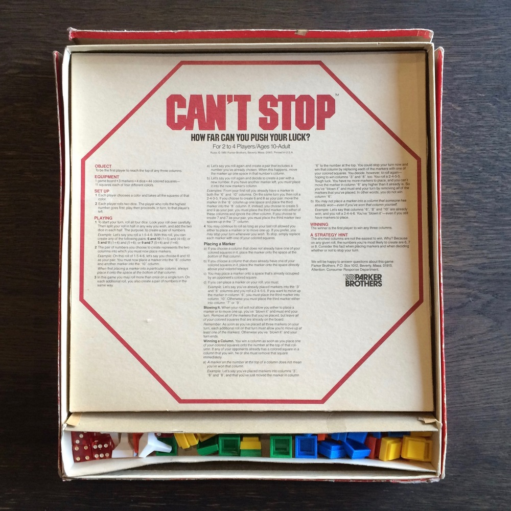 My well-loved vintage copy of Can't Stop