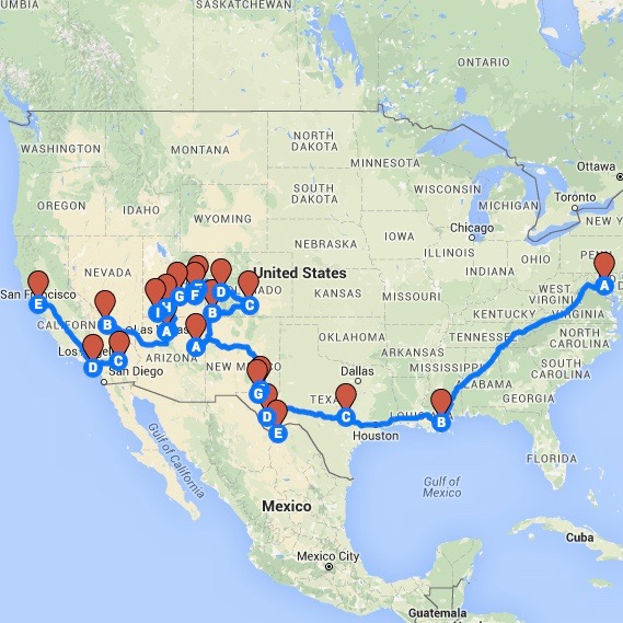 Our Route West
