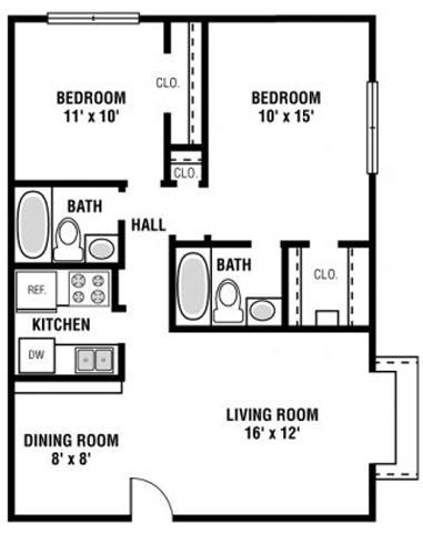 528 sf 1 bedroom 1 bath