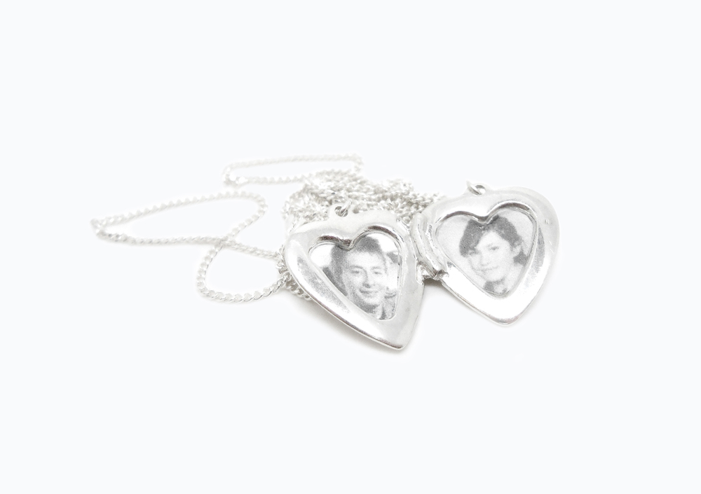 OPEN HEART LOVE LOCKET necklace