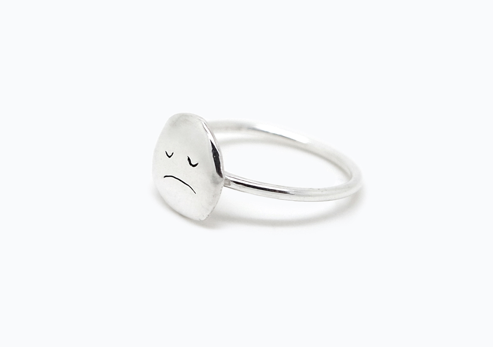 MOOD RING SAD - sterling silver