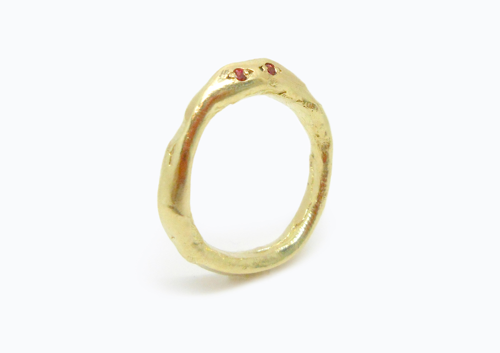 EYE SPY RING - 18ct gold with natural Australian pink sapphires