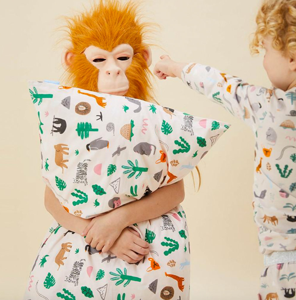 JUNGLE PARTY PILLOWCASE