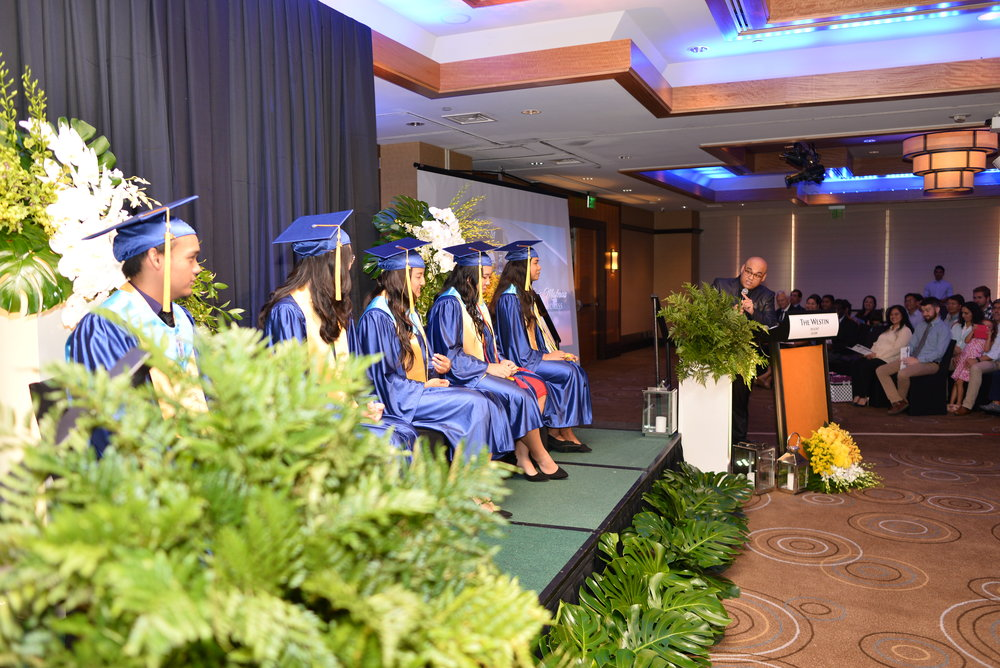 Pastor Luis Mafnas was the graduates' keynote speaker.
