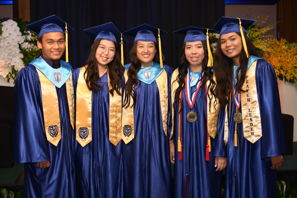 Four of the graduates are members of the National Honor Society.