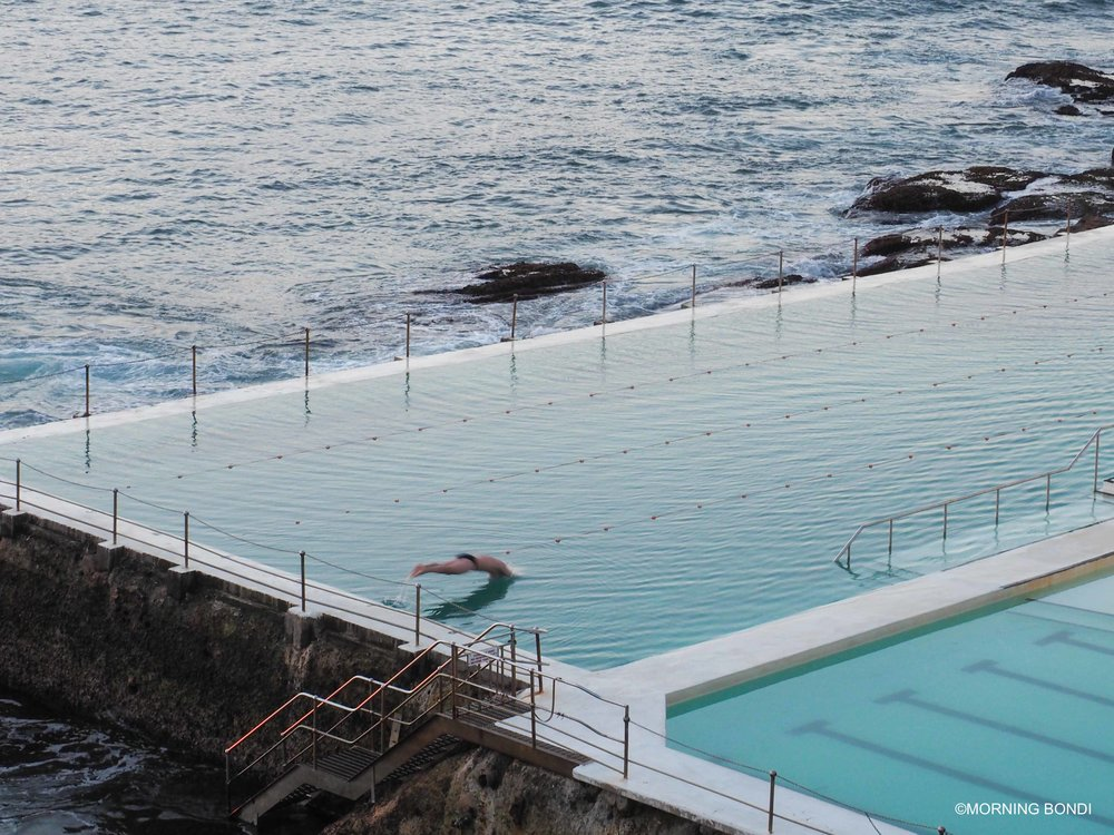 Second swimmer at the Icebergs