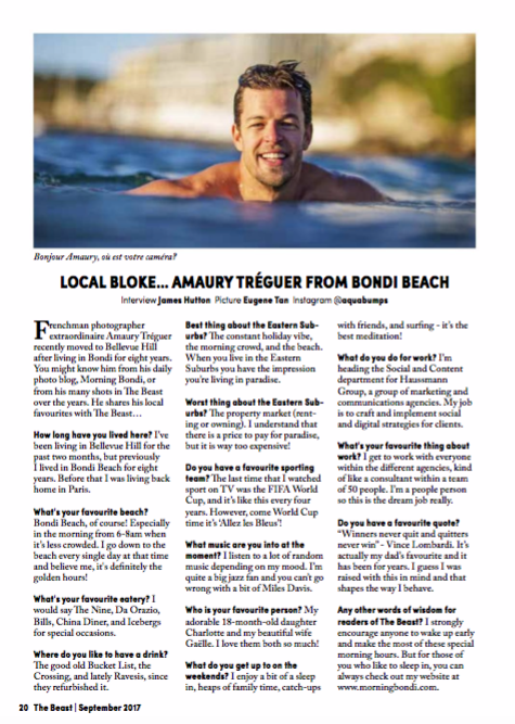 Amaury Treguer Interview with The Beast Magazine