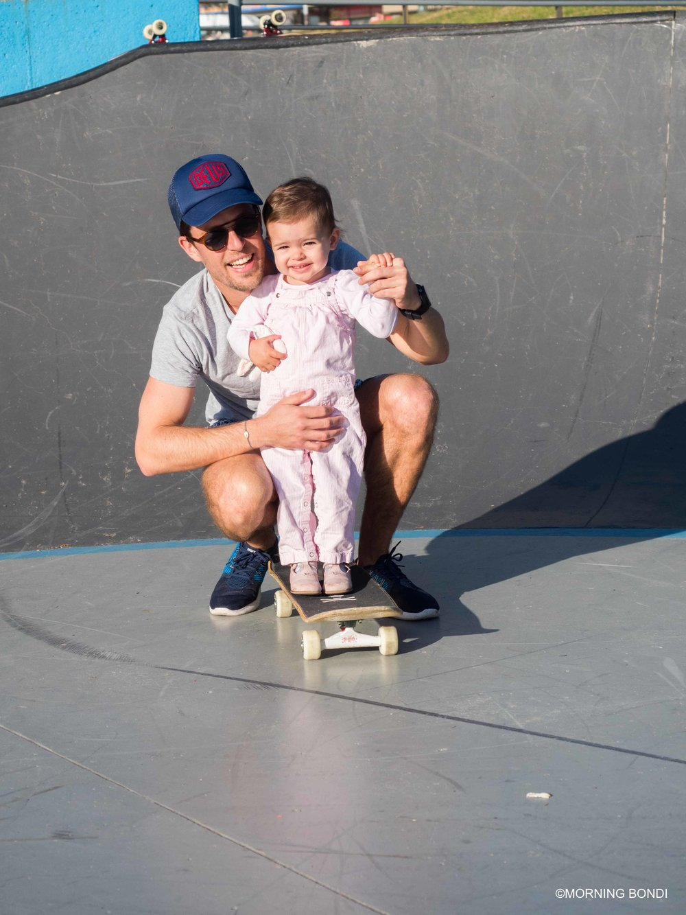Charlotte & I trying skateboard for the first time (Thanks for the shot Luke!)