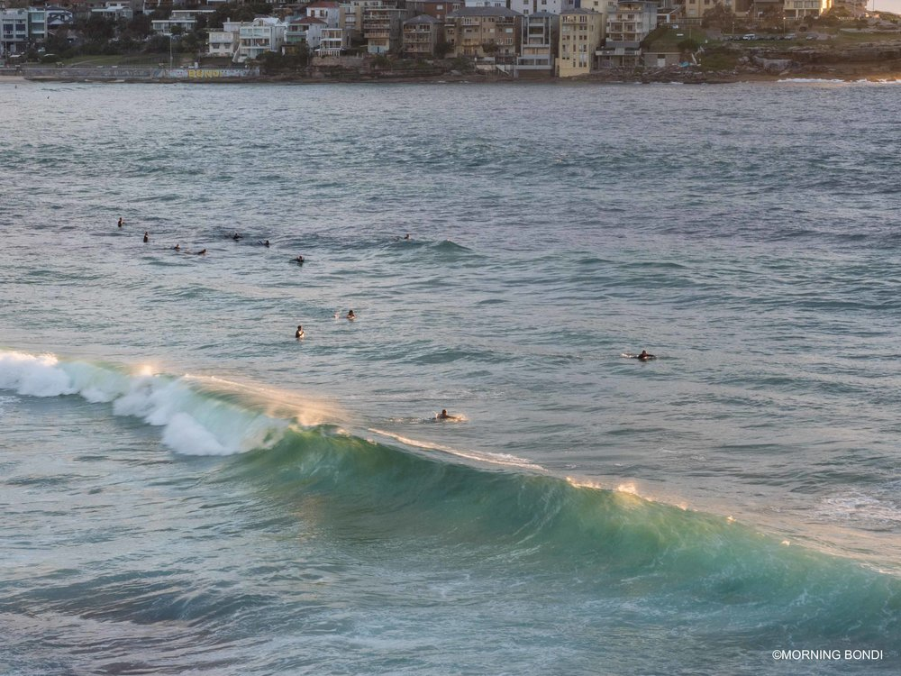 A few waves this morning...