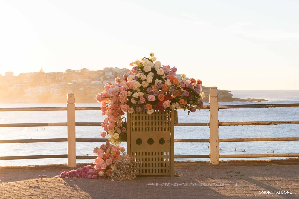 Bin Bouquet by Sean Cook from @mrcooktheflorist