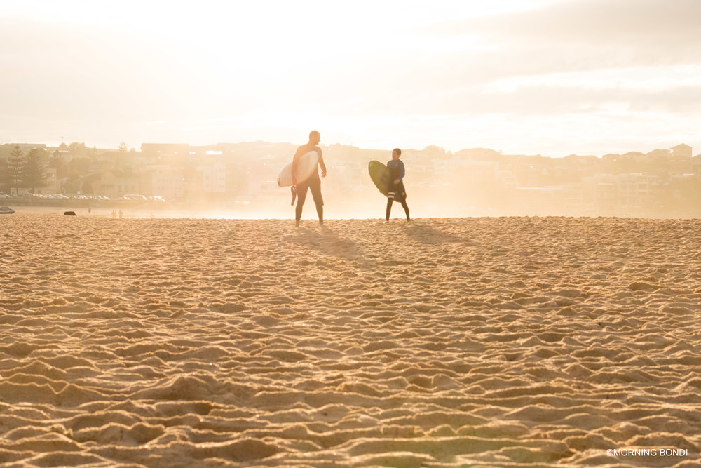 The second cutest thing that I have seen this morning, father & son post-surf. I can't wait to do the same with Charlotte