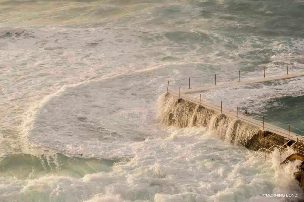 Big waves crashing